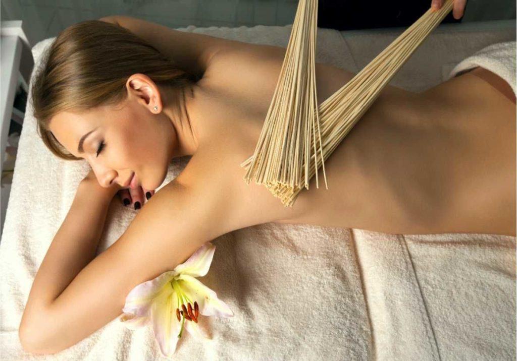 Расслабляющий эффект от бамбукового веника